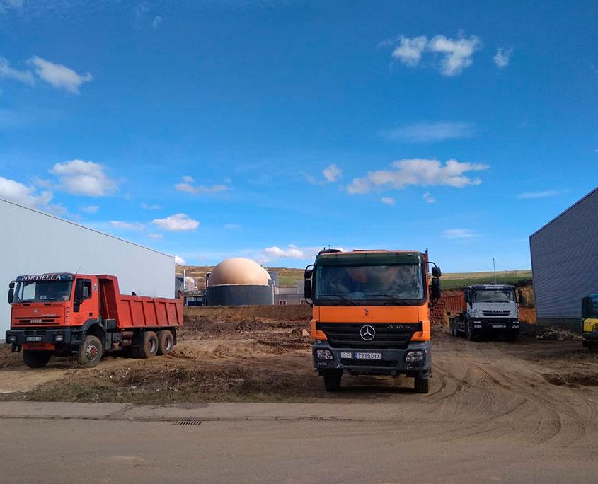 Camiones en Obras