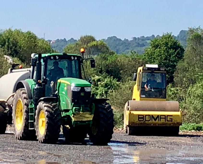 Tractor y Compactador